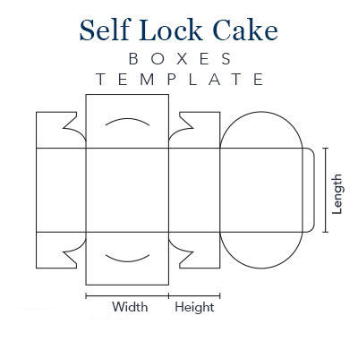Self Lock Cake Boxes